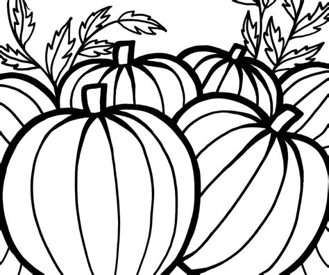 Coloring Pictures Of Pumpkins Pumpkin Patch Coloring Page