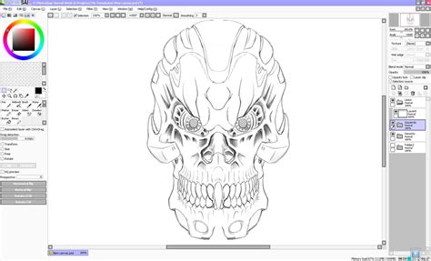 my terminator sketch paint tool sai testing by forever on deviantart