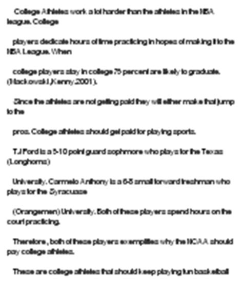 Should College Athletes Be Paid Essay by College Athletes Should Get Paid At Essaypedia