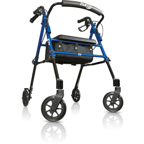 walkers with a seat hugo 174 fit 6 rolling walker with a seat pacific blue
