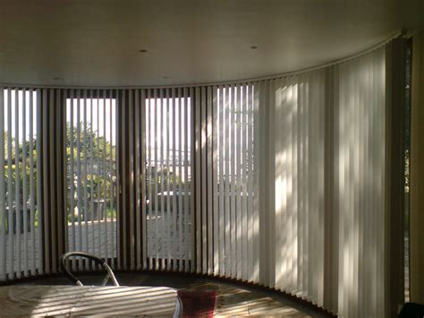 bend it curved headrail vertical blinds for bay bow - Bow Window Vertical Blinds