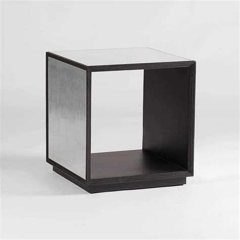 cube accent table anthony mirrored cube by gabby transitional side