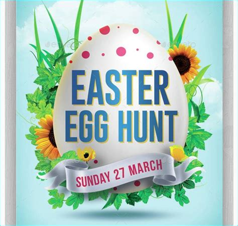 easter egg hunt flyer template party flyer templates for