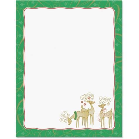 christmas stationery reindeer delight paperframes border