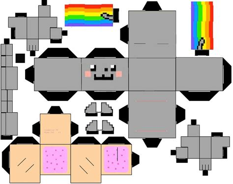 Cat Papercraft - nyan cat cubeecraft by i sabella v on deviantart