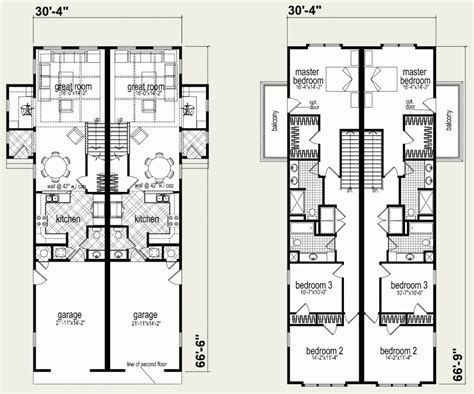 Floor Plans For Multi Family Homes by Modular Homes Multi Family Lincoln Park Duplex