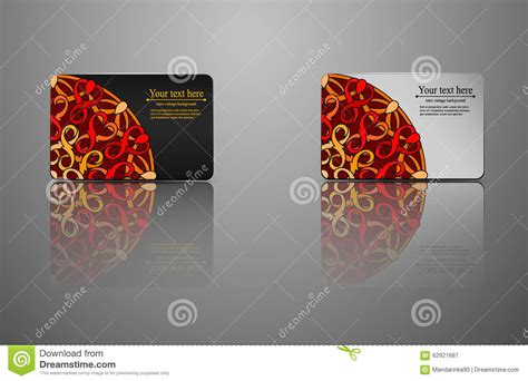 Gift Cards Credit Cards - template gift card credit card business card an invitation stock vector image
