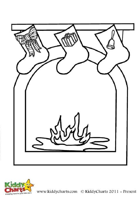 coloring pages of christmas fireplace christmas fireplace coloring page free to print