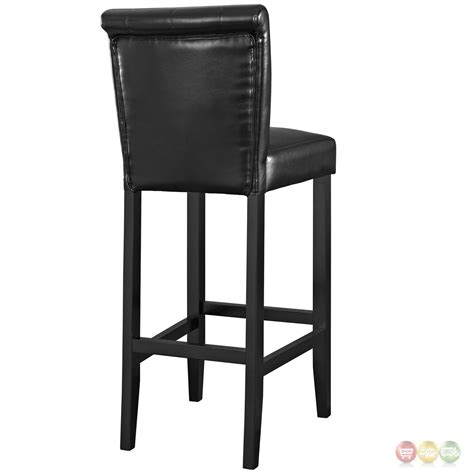 tufted bar stools cheap tender modern button tufted faux leather bar stool w foot