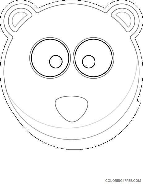 coloring page of a bear head bear head pqhhpx coloring coloring4free com