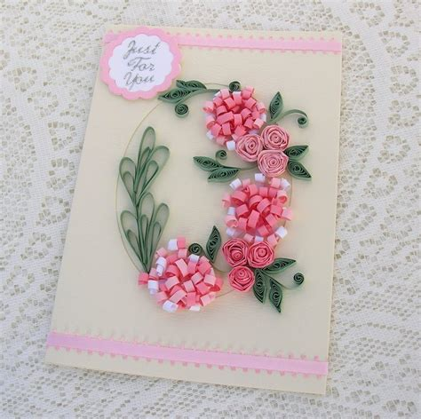 Craft Paper Card - handmade quilled birthday cards ideas craft gift ideas