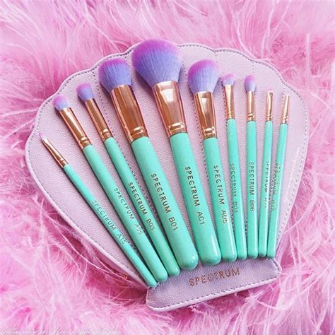 Gratis Ongkir Shell Brush Make Up 6 Set spectrum collections brushes makeup makeup