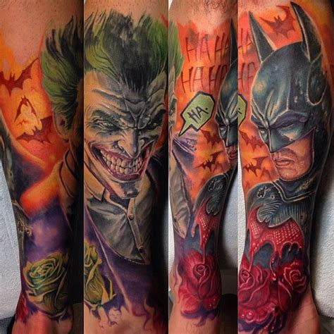 batman joker tattoo 38 batman joker tattoos