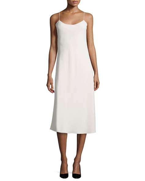 the dress lyst the row gibbons sleeveless bias cut dress in natural