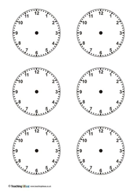 clock template for teaching time time teaching ideas
