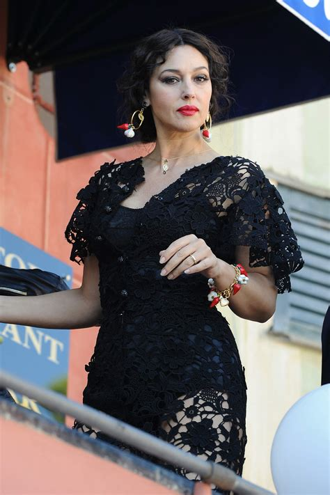 monica bellucci dolce gabbana monica bellucci cleavage candids on the set of dolce and