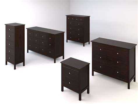 Ikea Hemnes Bedroom Furniture Hemnes Bedroom Drawers Chests 3d Model