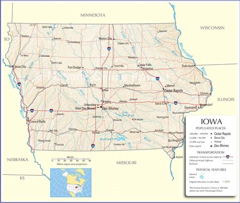 iowa maps iowa map iowa state map iowa road map map of iowa