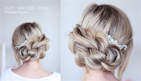 braids updos made easy easy braided updo youtube