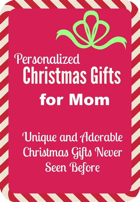 unique gifts for mom 15 most adorable personalized gifts for mom for christmas