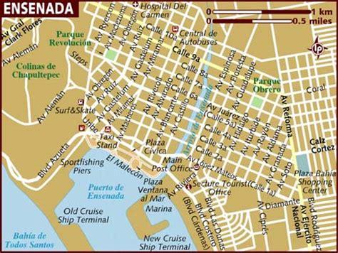 map of ensenada city area   map of mexico regional
