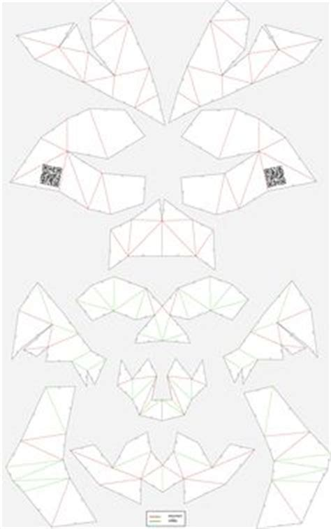printable geometric mask template jack foster amriver13 on pinterest