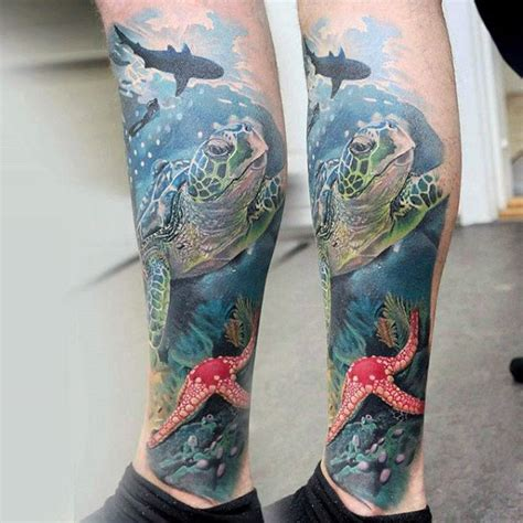 ocean themed tattoo sleeve 100 animal tattoos for cool living creature design ideas