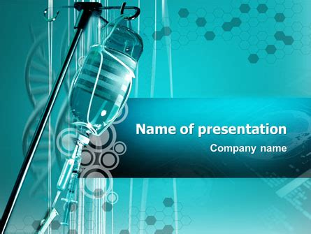 medicine dropper presentation template for powerpoint and