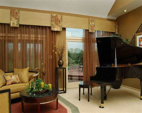 den design ideas brilliant brown fabric windows curtain also rounded brown
