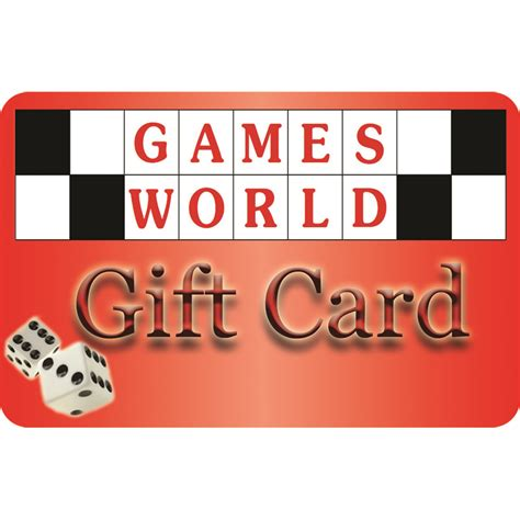 World Gift Card - games world gift card games world