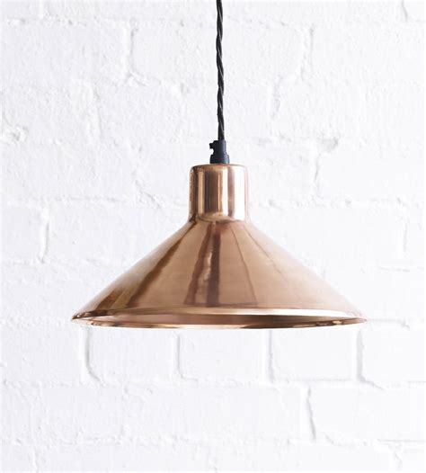 copper pendant the thea pendant light in copper by pooky lighting