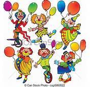 Ilustraciones De Vectores Balloons Payasos  Funny