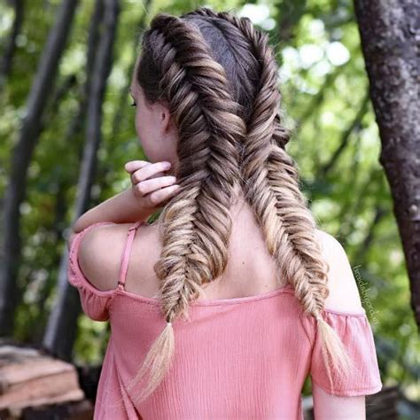 5 double fishtail braids braid love pinterest teen 1725 best hairstyles i love french braids images on