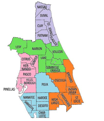 florida county map one on one help with ieps central florida parent center