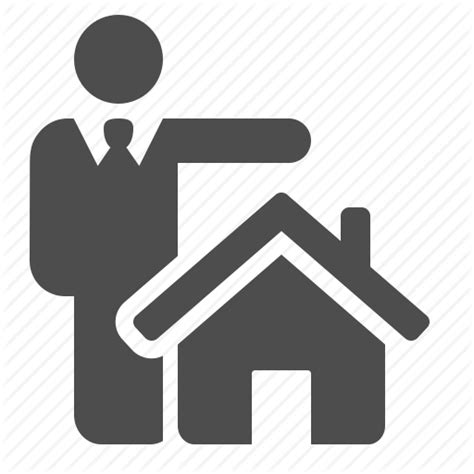 housing loan agent agent business businessman home house loan real estate icon icon search engine