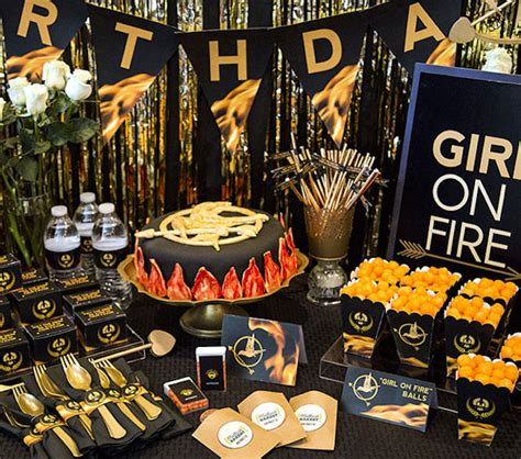 themes about hunger games kara s party ideas hunger games tween teen birthday party