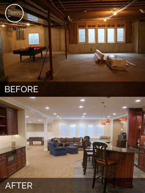 Design For Basement Makeover Ideas Steve Elaine S Basement Before After Basement Remodeling Basements And Before After
