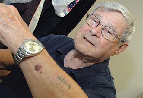 holocaust tattoos salute honors holocaust survivor veteran captain