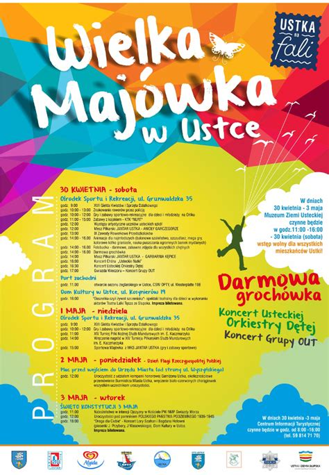 Plakat Ustka by Maj 243 Wka 2016 Ustka Program Ustka Atrakcje Noclegi