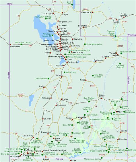 map utah maps of utah state map and utah national park maps