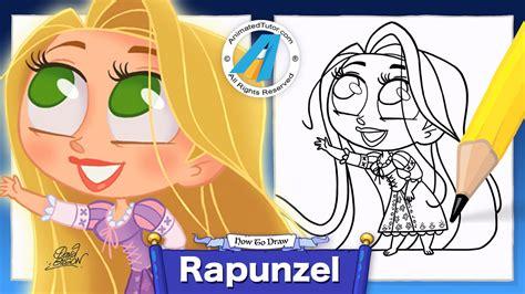 imagenes de rapunzel kawaii draw cute rapunzel chibi kawaii cute and easy