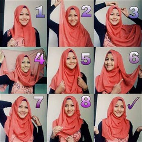 memakai jilbab segi empat  sekolah model jilbab