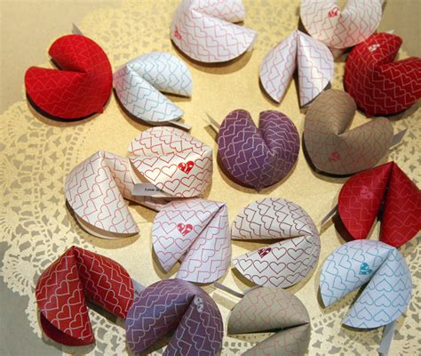 Handmade Fortune Cookies - paper fortune cookies fill with