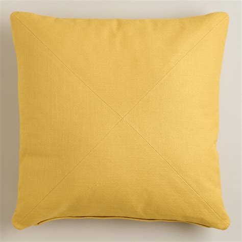 yellow couch pillows yellow herringbone cotton throw pillow world market
