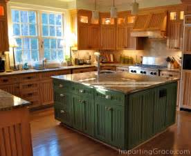 Green Kitchen Islands by Imparting Grace The Beautiful New Green Heritage Canning
