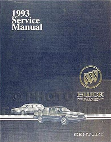 1992 buick century auto repair manual free 1992 1993 buick century parts book original