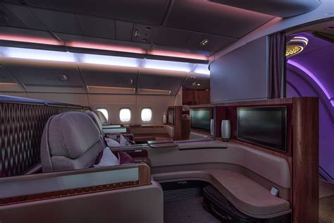 Qatar A380 Cabin by Qatar Airways A380 Class Review Andy S Travel