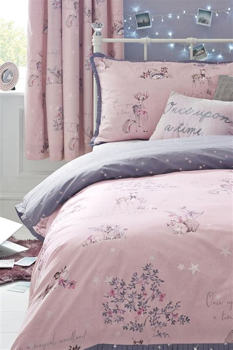 next fairy curtains buy fairy tale cotton rich print bed set from the next uk