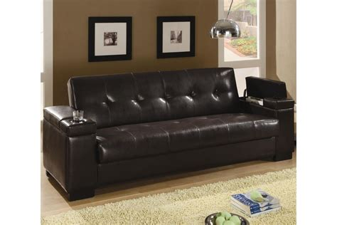 faux leather convertible sofa bed  gardner white