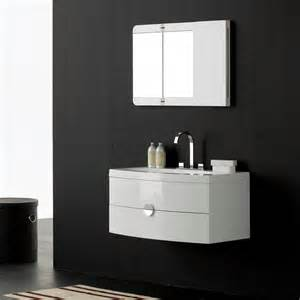 gloss white wall mounted vanity unit